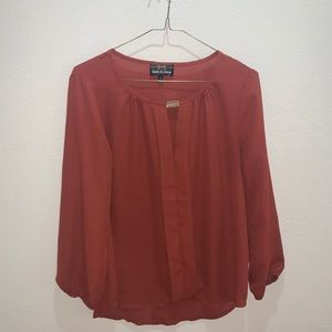 Twine & String rust top Sz S sheet see through